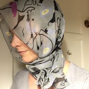 Vintage Gothic Butterfly Oblong Scarf